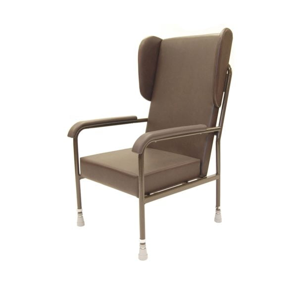 Metal High Back Chair